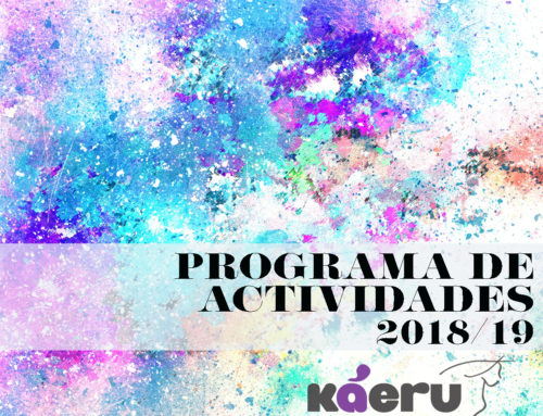 Conoce la programación de actividades en Káeru para el curso que viene