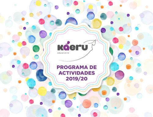 Programación de actividades en Káeru para el próximo curso 2019/20